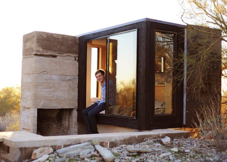 Miners Shelter - David Frazee - Arizona - Chimney - Humble Homes