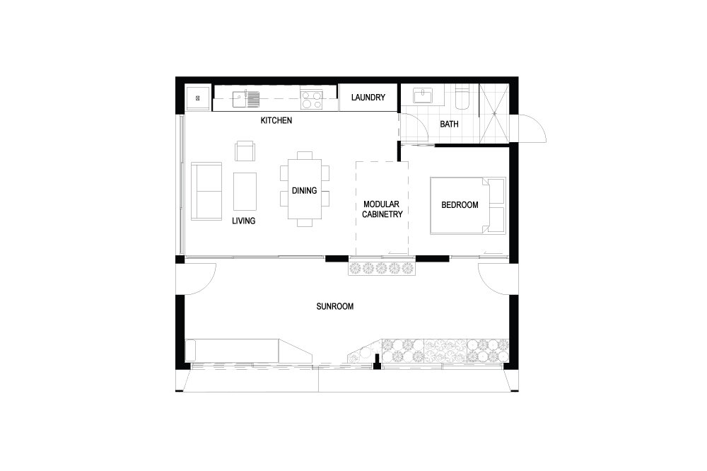 Prefab Tiny House - ArchiBlox - Carbon Positive House - Australia - Floor Plans - Humble Homes