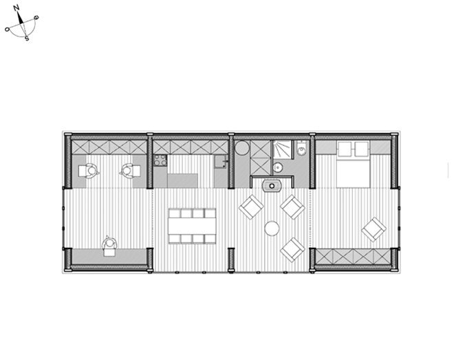 Small House - House in The Meadow - ARBA - France - Floor Plan - Humbe Homes