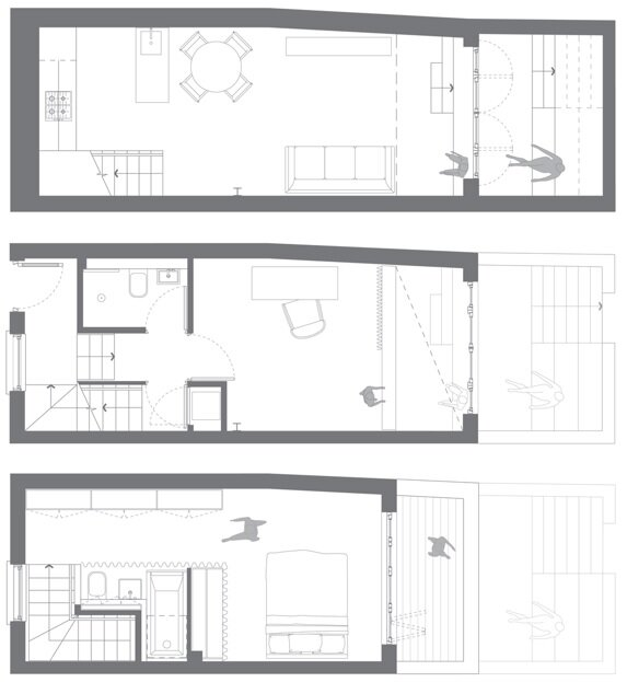 Small House - Winkley Workshop - Kirkwood McCarthy - Tim Crocker - London - Floor Plans - Humble Homes