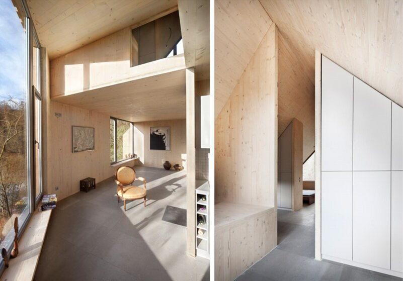 Wooden Cabin - Small Cabin - A-LT Architekti - Czech Republic - Living Room - Humble Homes