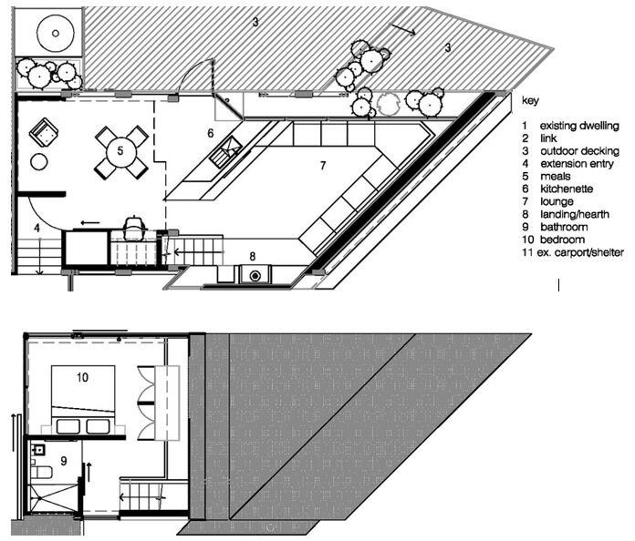 Cabin 2 - Small House - Maddison Architects - Australia - Floor Plan - Humble Homes