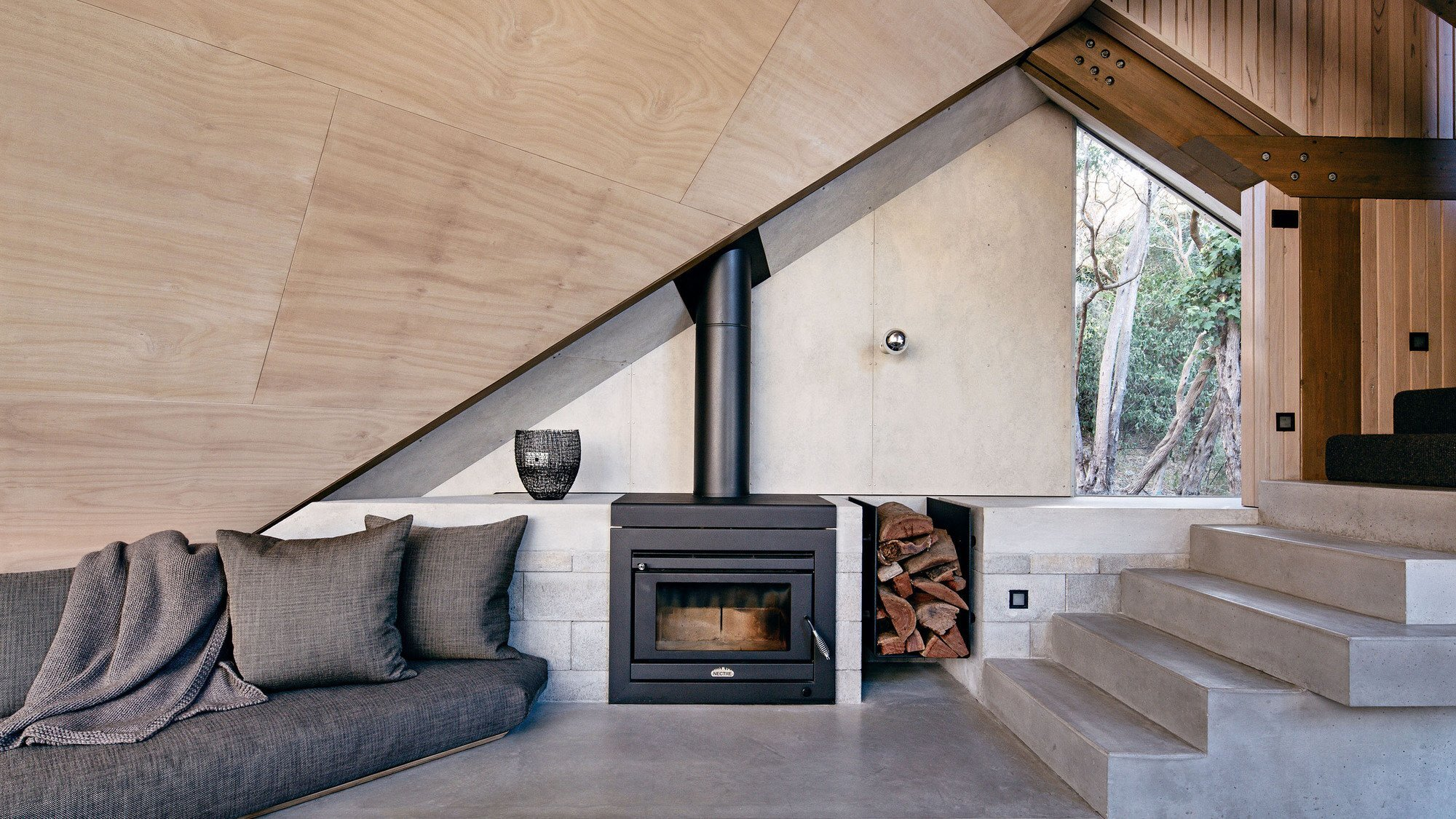 Cabin 2 - Small House - Maddison Architects - Australia - Wood Burner - Humble Homes