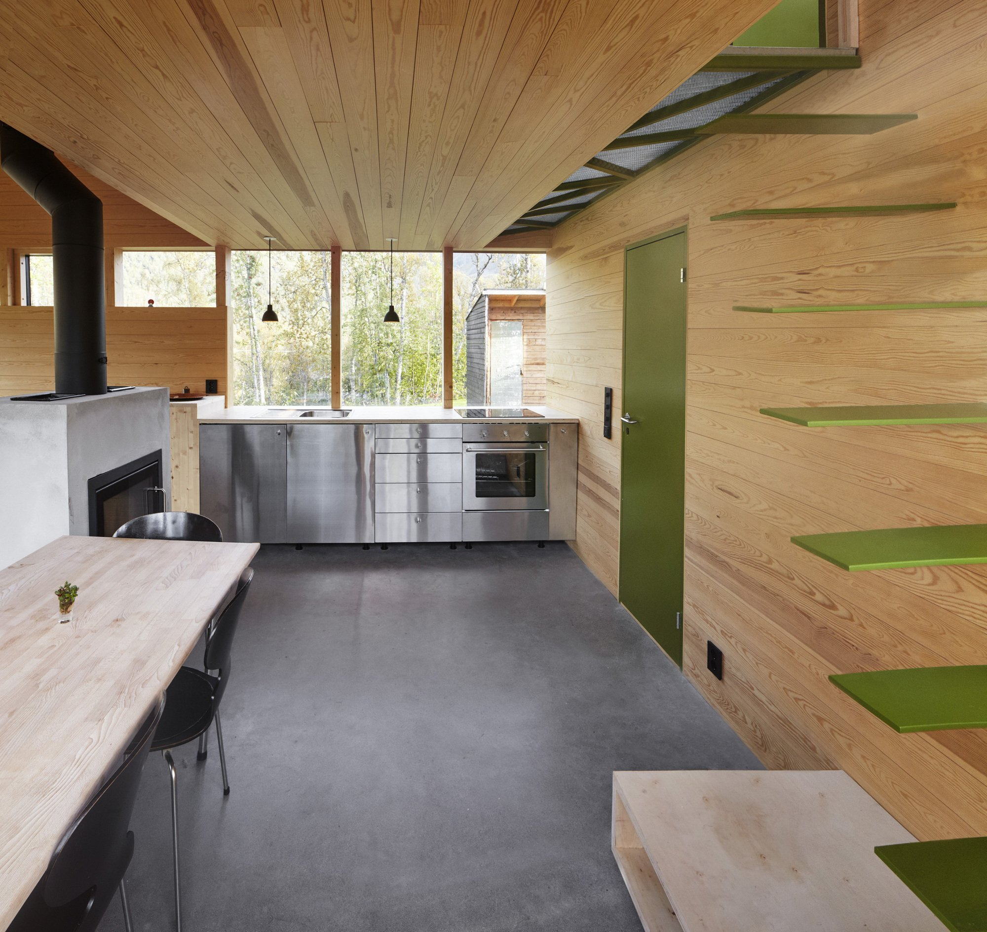 Cabin Laksvatn - Hamran Johansen Arkitekter - Norway - Kitchen - Humble Homes