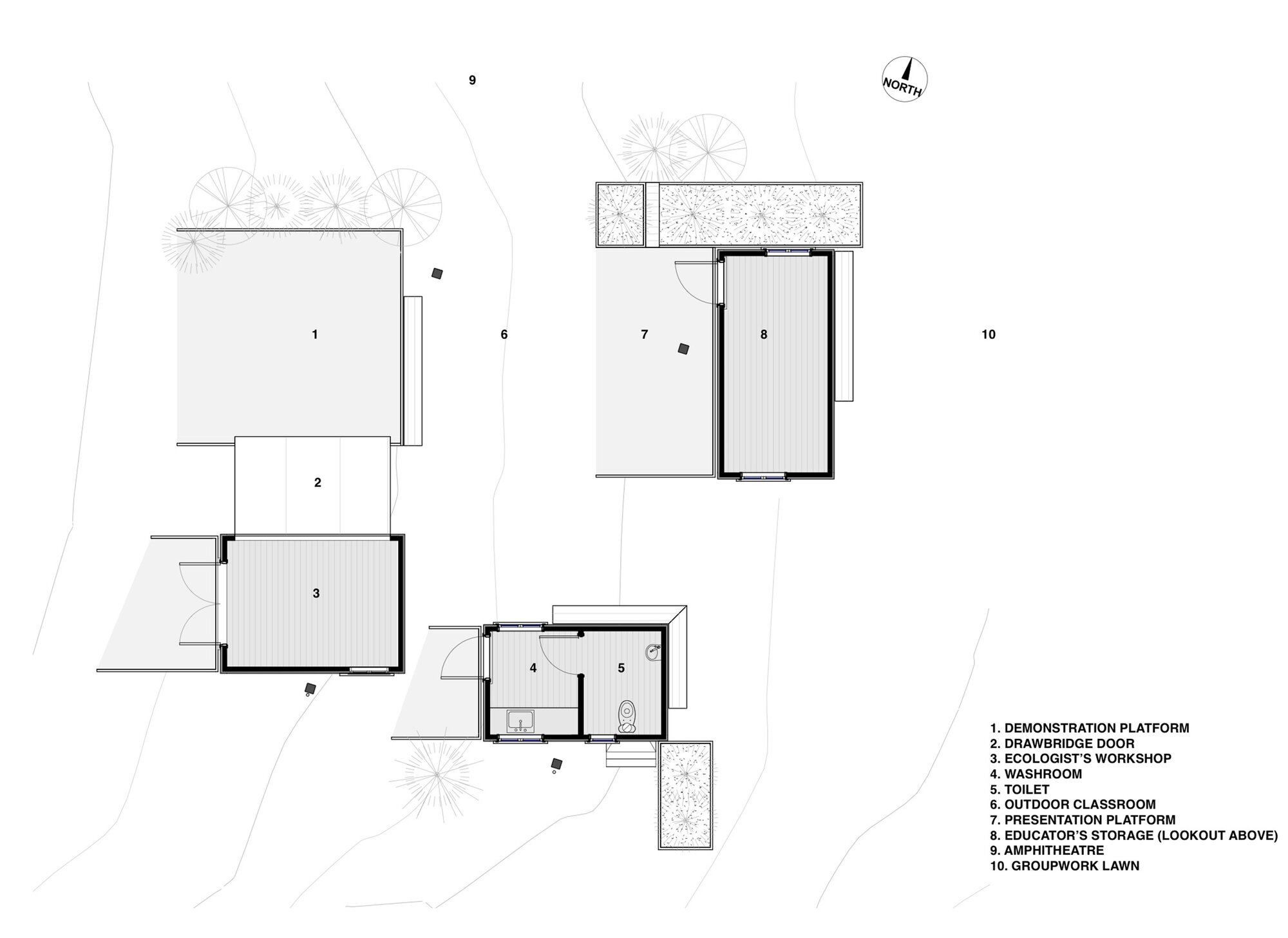Shelter Floor Plan With Fireplace : The welcome shelter in longbush ecosanctuary by sarosh mulla
