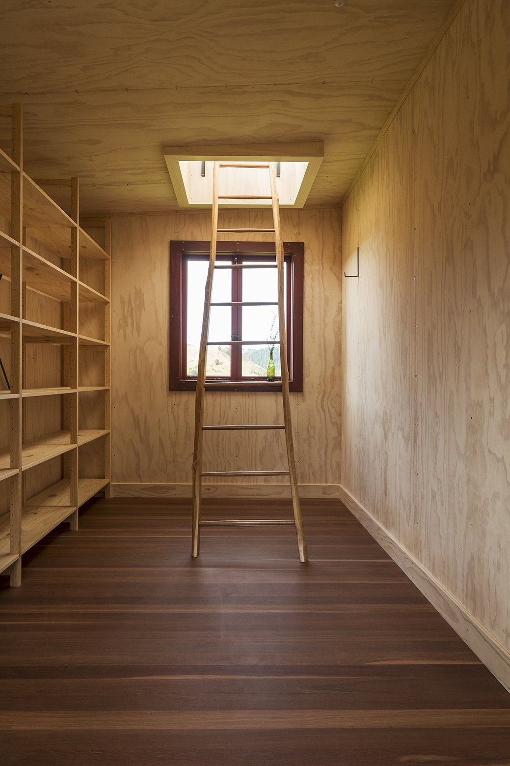 Longbush Ecosanctuary Welcome Shelter - Sarosh Mulla Design - New Zealand - Storage and Ladders - Humble Homes