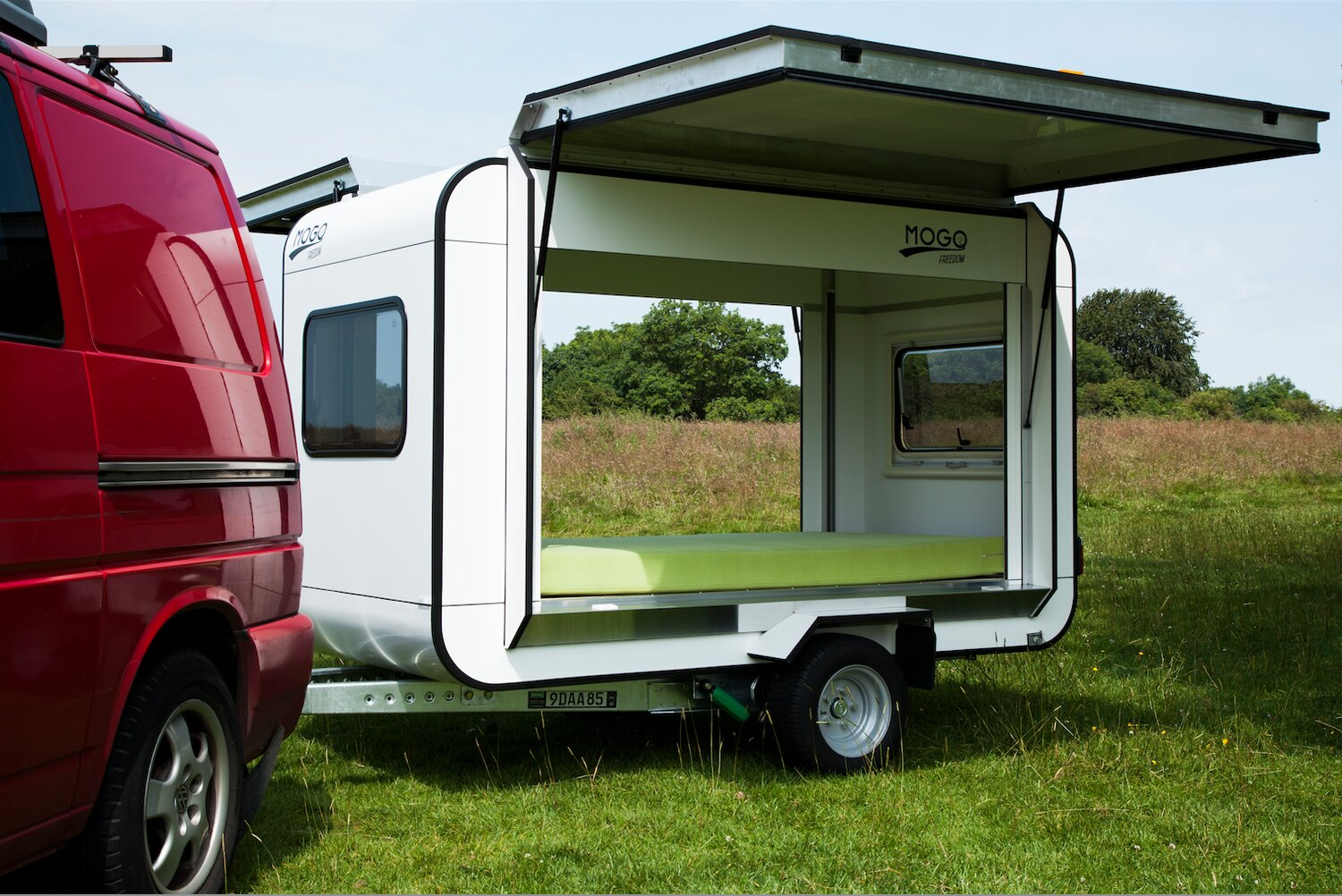 Diy Hard Floor Camper Trailer Plans Mogo Freedom A Tiny Gull Wing Travel Trailer By Matjaz