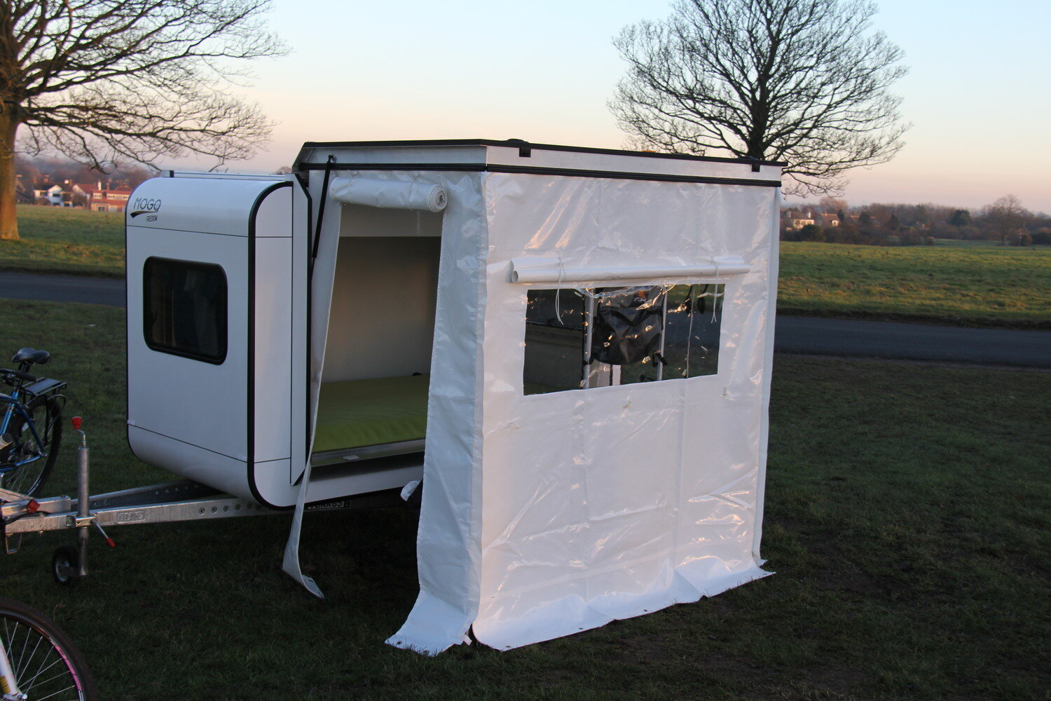 mogo freedom travel trailer trailer with gazebo humble homes - Tiny Camping Trailers