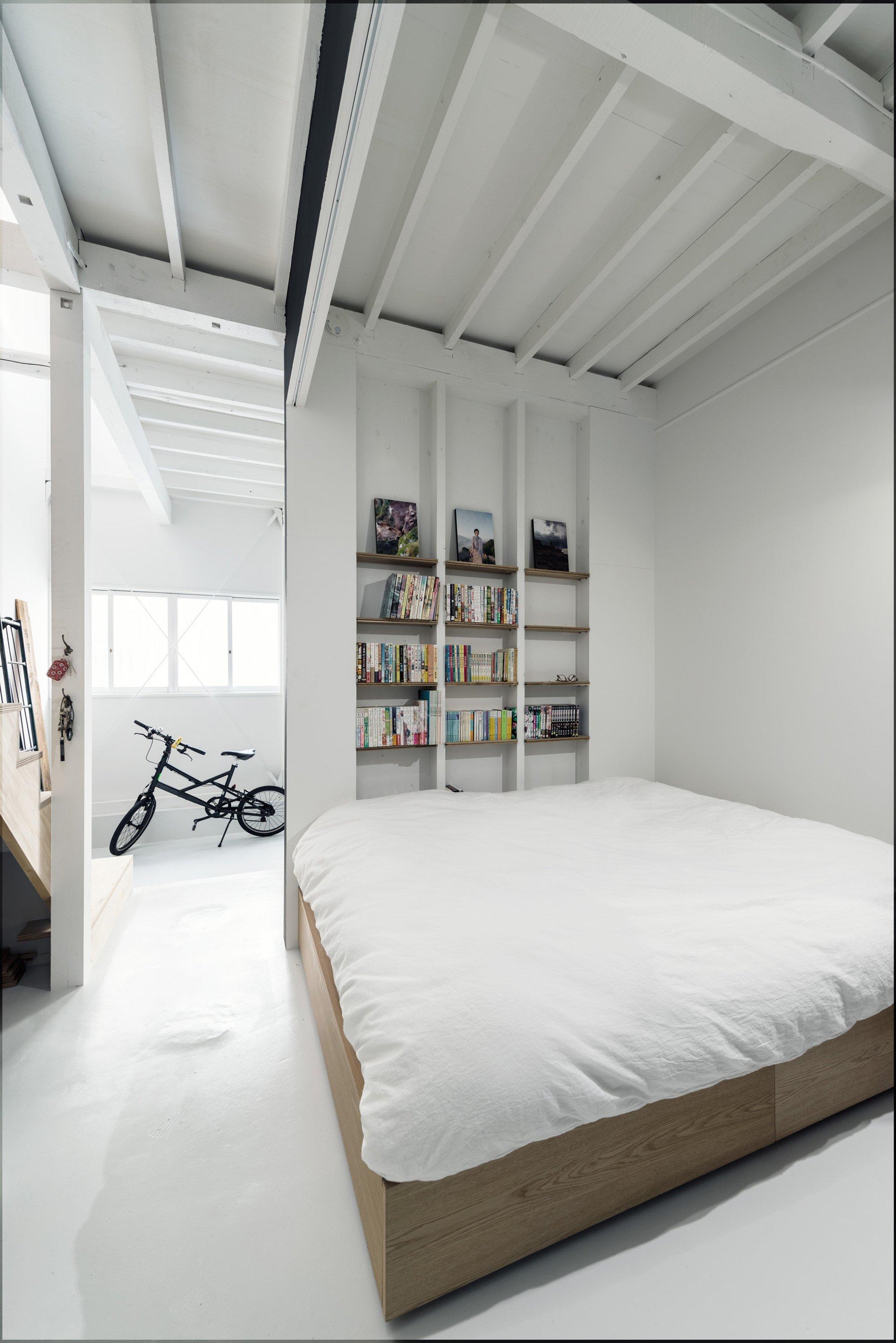 Re-Toyosaki - Small Japanese House - Coil Kazuteru Matumura Architects - Osaka Japan - Bedroom - Humble Homes