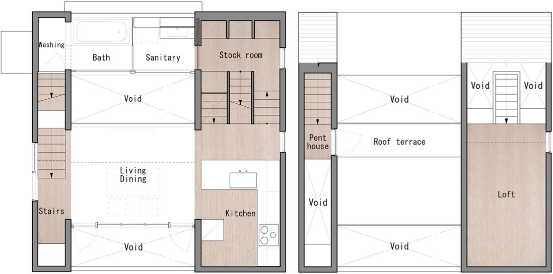 SEPA - Small House -S Shintaro Matsushita + Takashi Suzuk - Japan - Floor Plan - Humble Homes