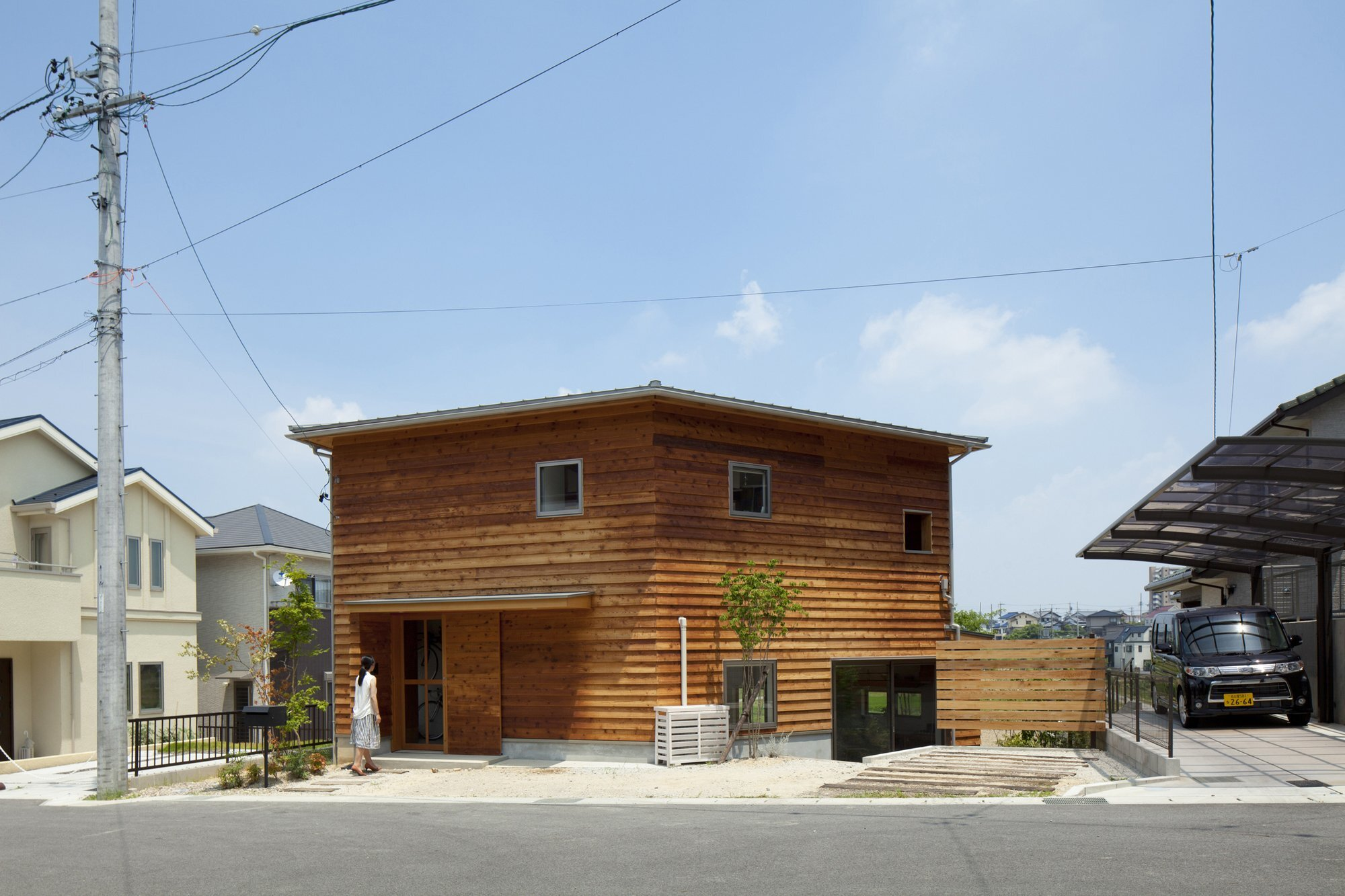 The frontier house is a hexagonal home in toyoake for Japanese exterior design