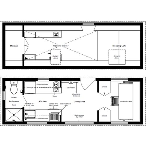 The turtle tiny house a tiny house with a bedroom for Tiny home designs plans