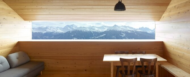 Gaudin House - Small Cabin - Savioz Fabrizzi Architectes - Switzerland - Window View - Humble Homes