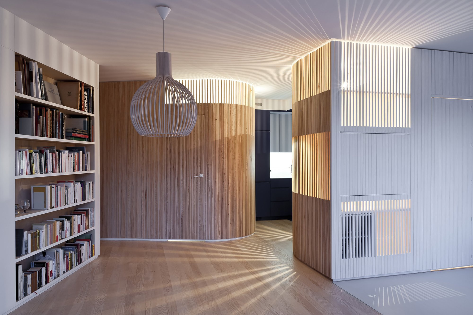 Home Renovation - Small Apartment - Julien Joly Architecture - Paris - Timber Slat Partitions - Humble Homes