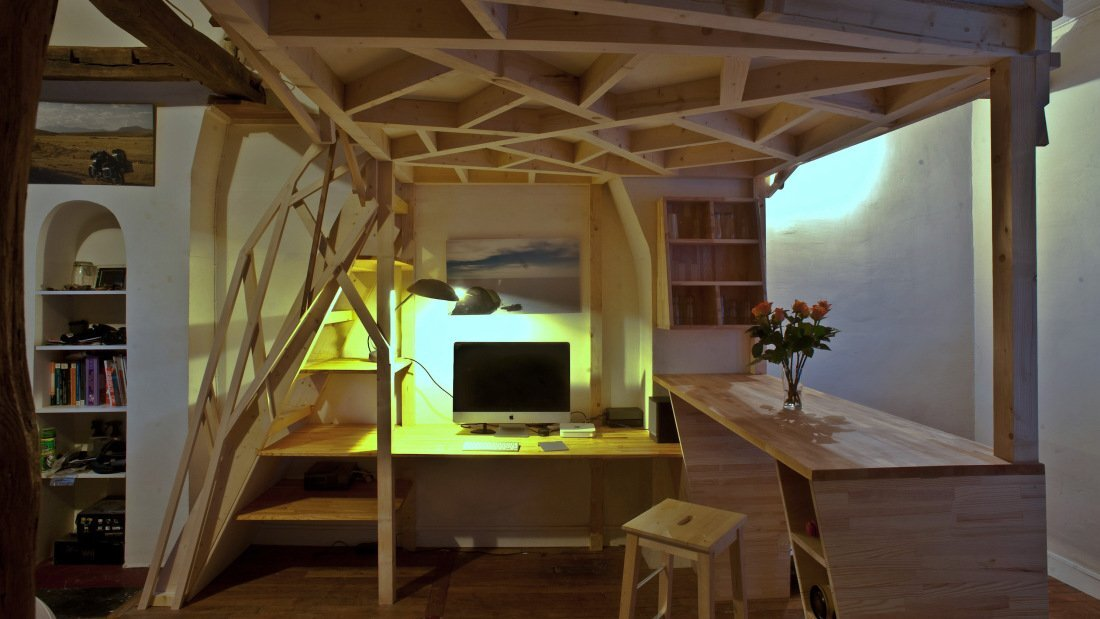 Paris Apartment Redesign - Fabbricabois - Timber Loft 3 - Humble Homes