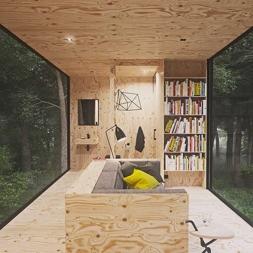 Small Forest Cabin - Tomek Michalski - Poland - Seating - Humble Homes