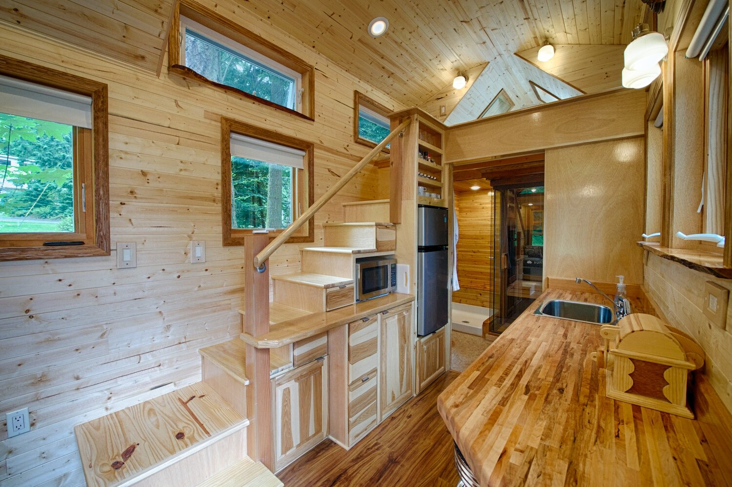 A tiny house with a sauna hope island cottages for Small house design inside and outside