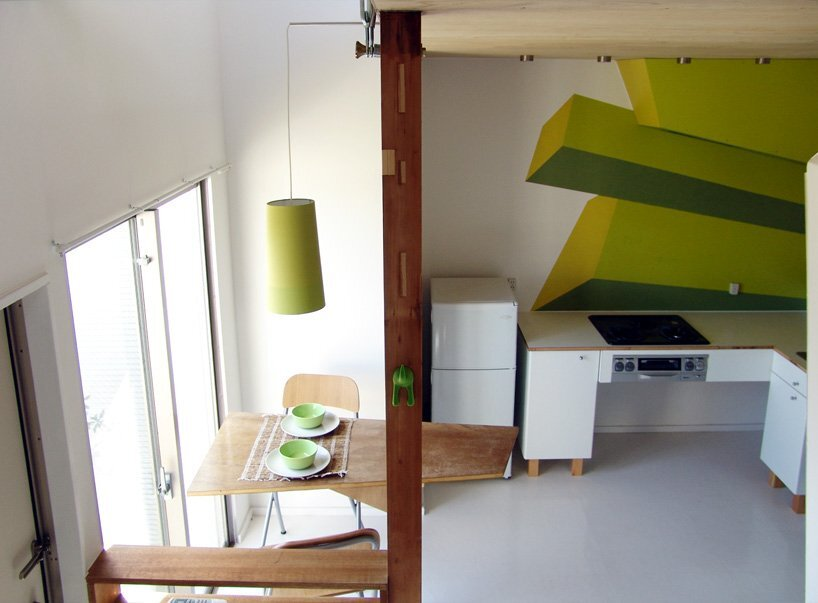 Yokohama House - Small Apartments - designatedCWrevives - Japan - Dining Area - Humble Homes