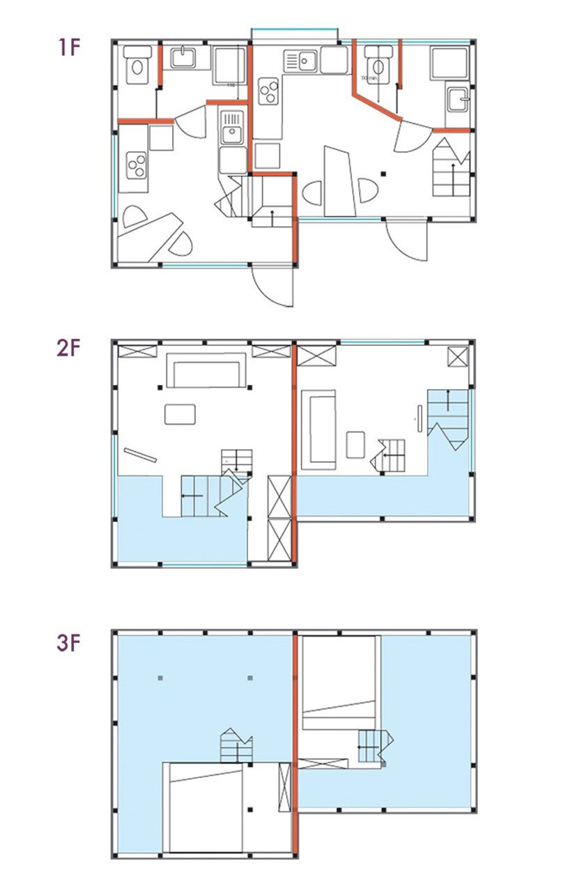 Yokohama House - Small Apartments - designatedCWrevives - Japan - Floor Plans - Humble Homes