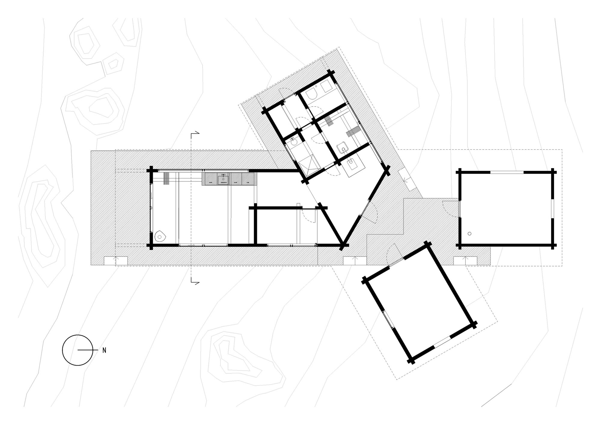 Cabin at Femunden - Cabin - Aslak Haanshuus Arkitekter - Norway - Floor Plans - Humble Homes