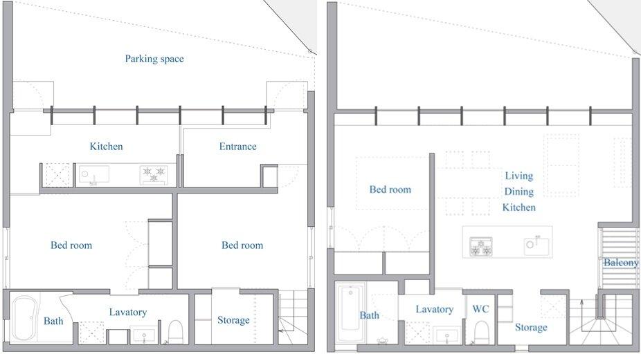 Checkered House - Takeshi Shikauchi Architect Office - Tokyo - Floor Plans - Humble Homes