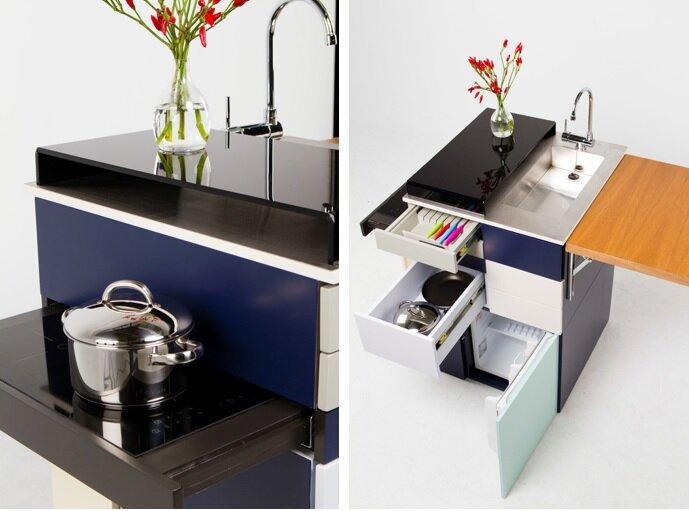 gali micro kitchen ana arana cooktop and side view humble homes - Micro Kitchen