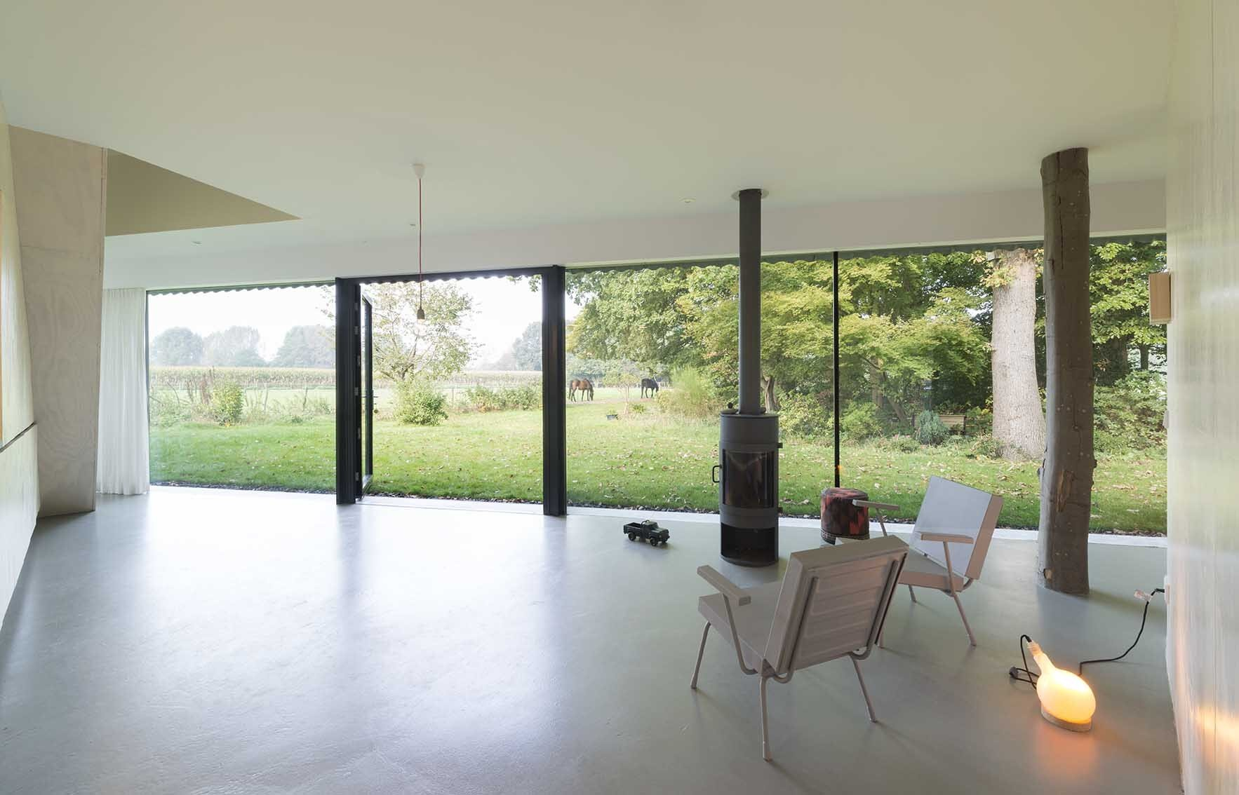 House in Almen - Barend Koolhaas - The Netherlands - Living Room Windows - Humble Homes