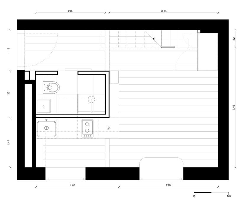 Micro-Apartment - Spamroom + John Paul Coss - Berlin - Floor Plan - Humble Homes