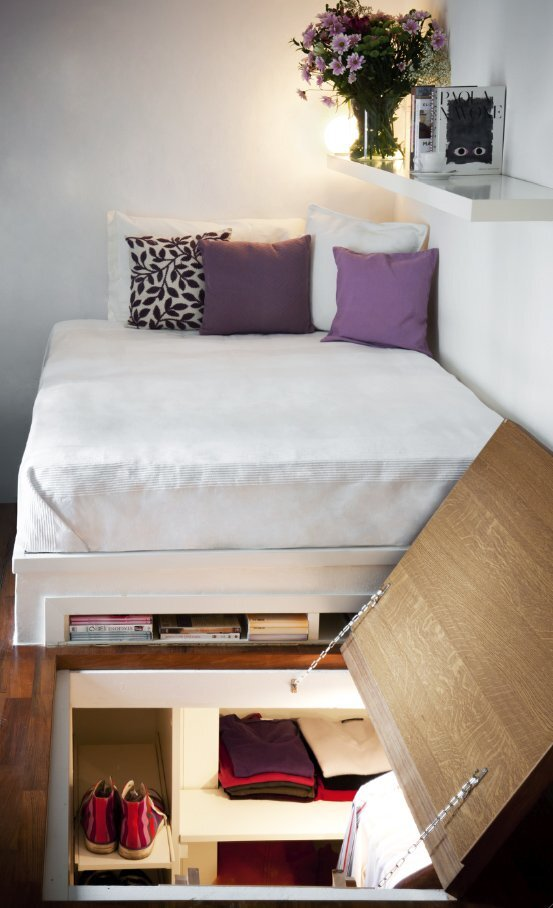 Micro-Apartment - Underfloor storage - Humble Homes
