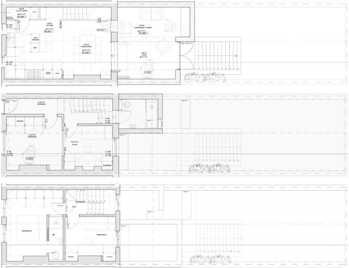 The Brick House - Fraher Architects - London - Floor Plans - Humble Homes