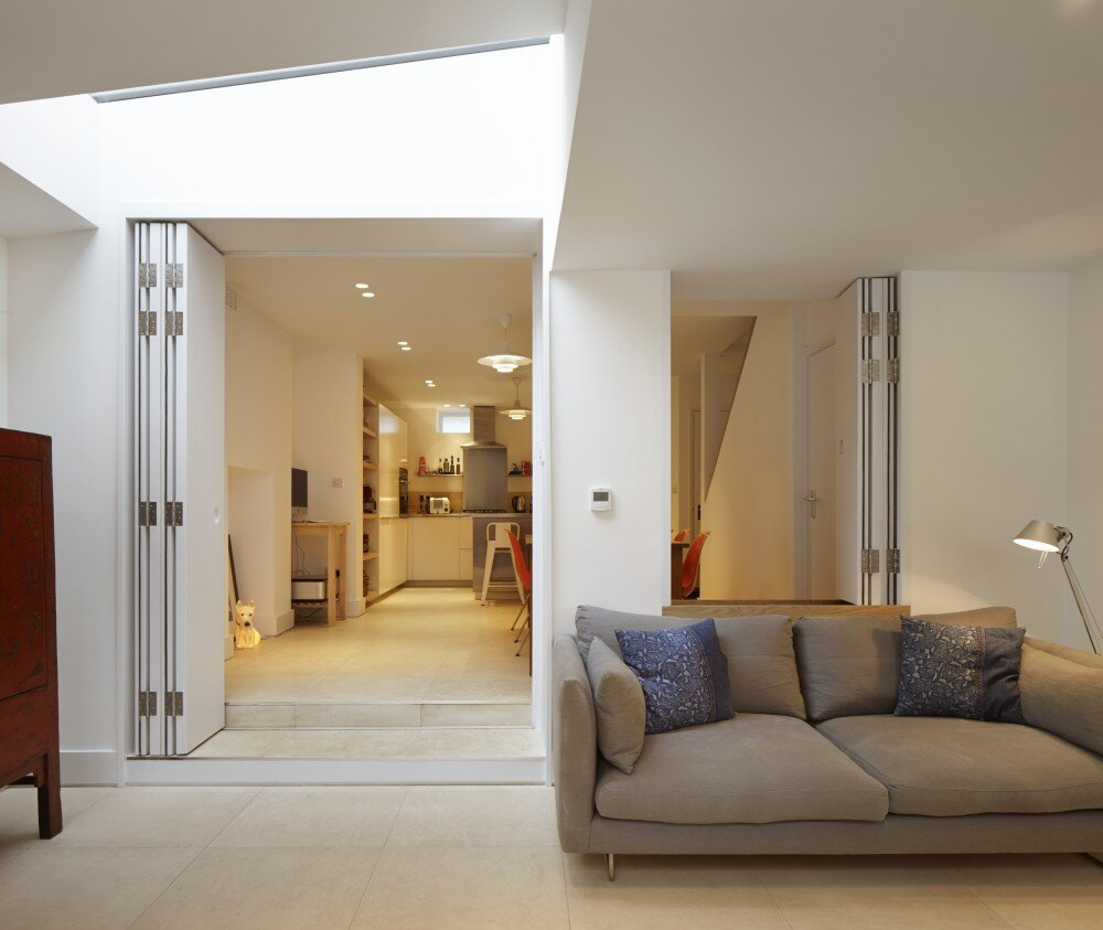 The Brick House - Fraher Architects - London - Living Area and Kitchen - Humble Homes