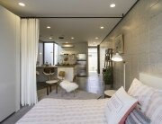 White Stone Studios - Tiny House - Benjamin Hall Design - Arizona - Bedroom and Living Area - Humble Homes