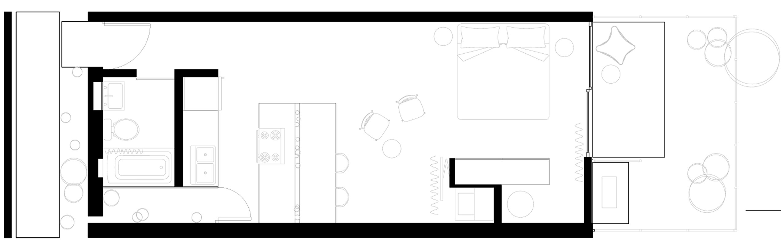 White Stone Studios - Tiny House - Benjamin Hall Design - Arizona - Floor Plan - Humble Homes