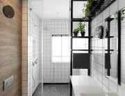 Bauhaus Apartment Redesign - Small Apartment - Studio Raanan Stern Architect - Tel Aviv - Bathroom - Humble Homes