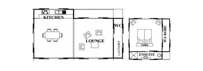 Ecoshelta -  Stephen Sainsbury - Australia - Example Floor Plans - Humble Homes