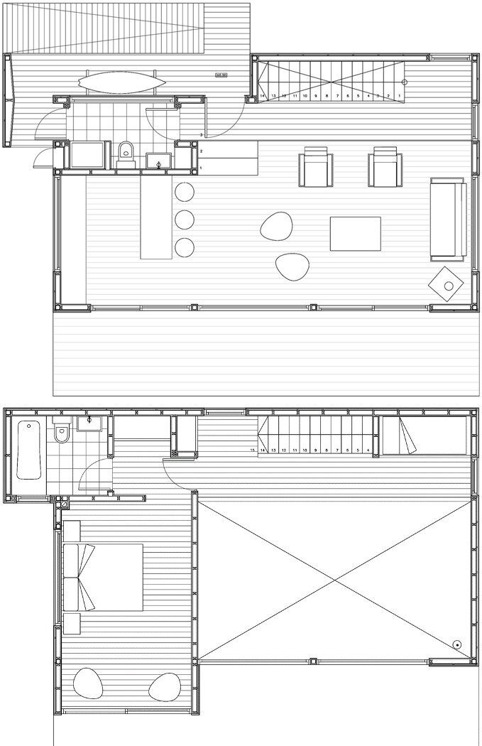 H House - PAARQ Arquitectos - Chile - Floor Plans - Humble Homes