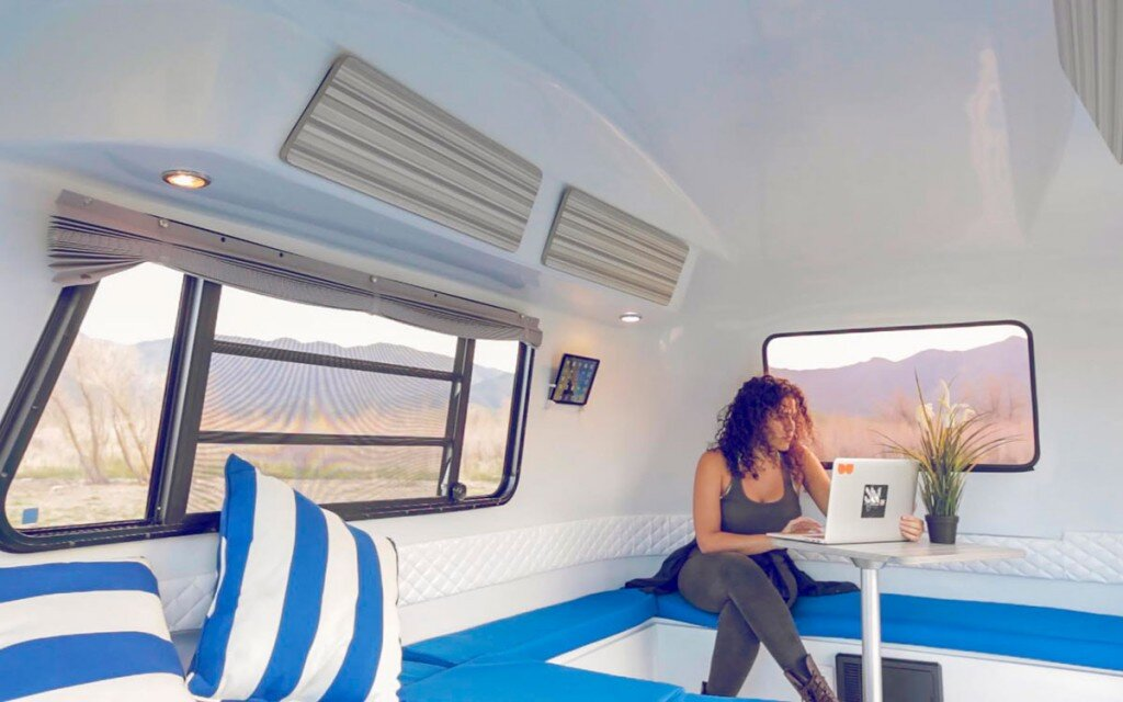 happier camper tiny camper california interior living area humble homes