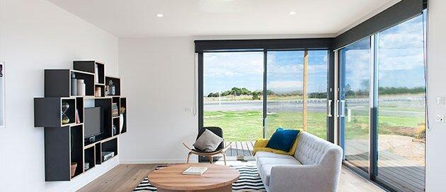 Modular House - Ecoliv - Australia - Living Room - Humble Homes