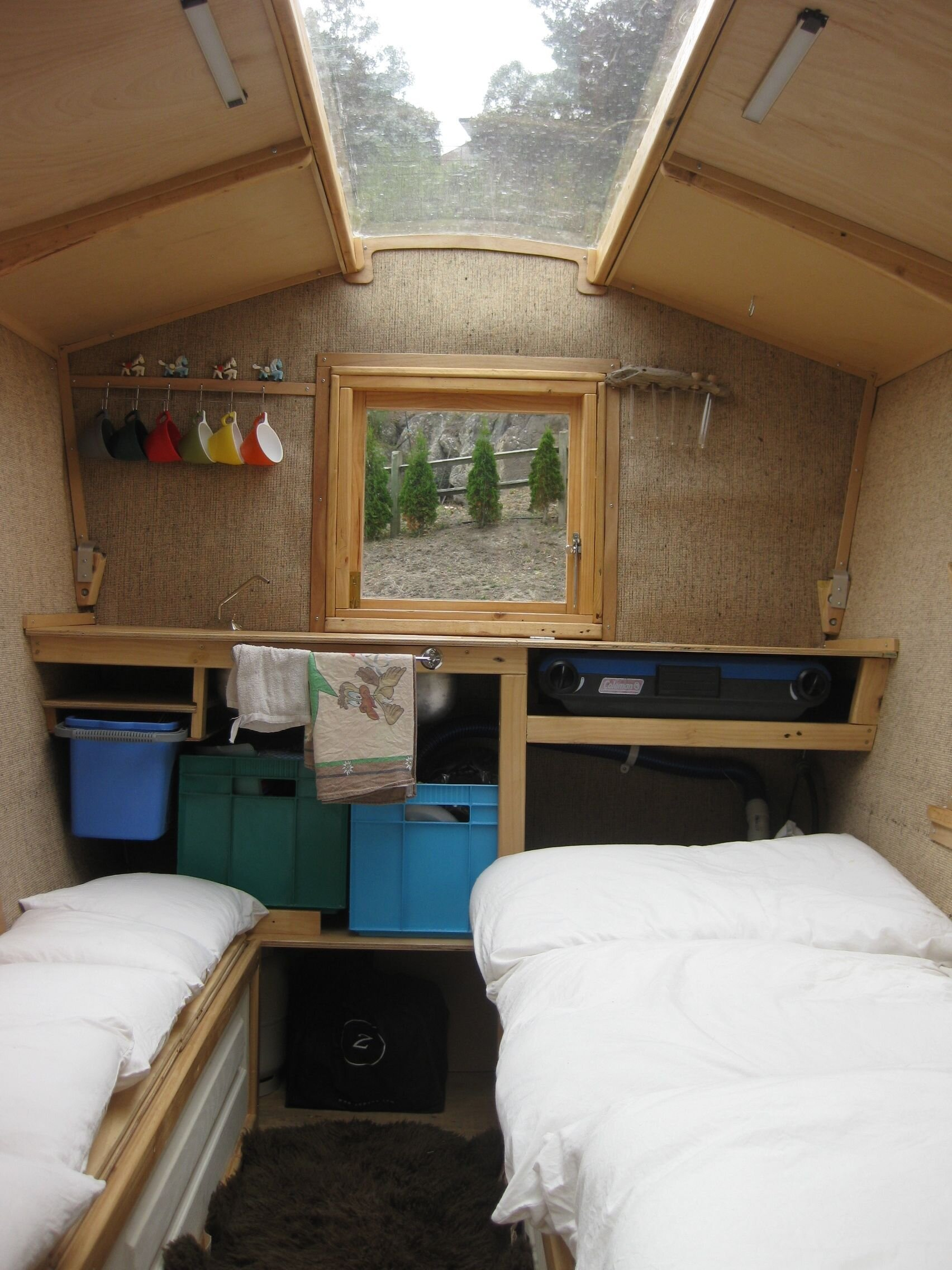 polly an ingenious self build camper made from salvaged micro house interior paint home interior design
