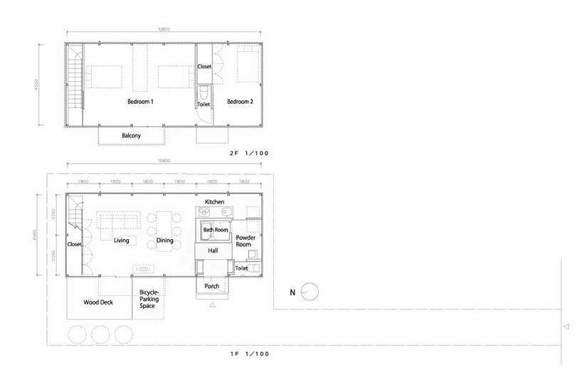 Prefab Steel House - Niji Architects - Tokyo - Floor Plans - Humble Homes