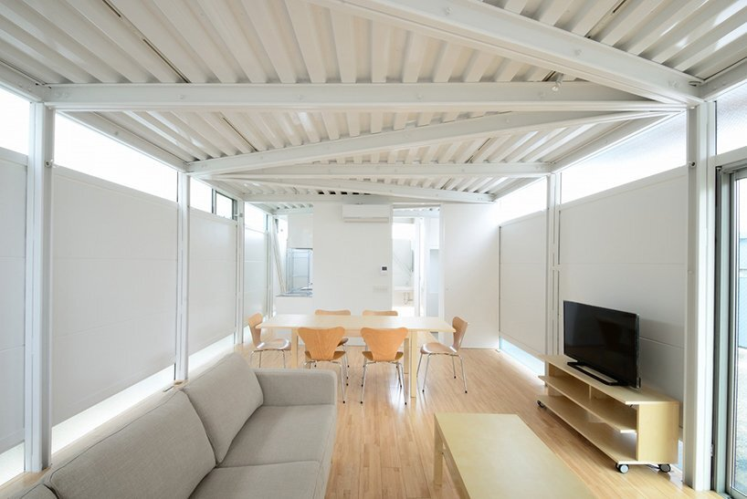 prefab steel house niji architects tokyo living area humble homes