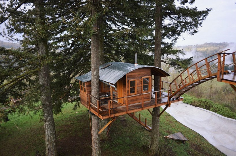 The Cinder Cone A Treehouse Getaway With A Skatebowl And