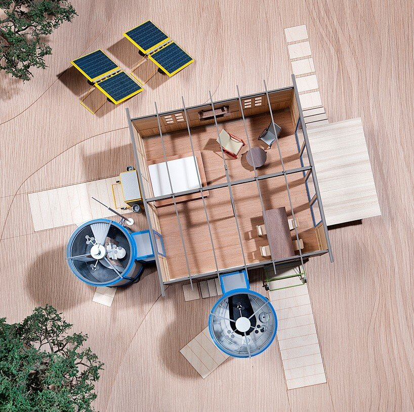 The Demountable House - Richard Rogers - Jean Prouvé - Model Plan - Humble Homes