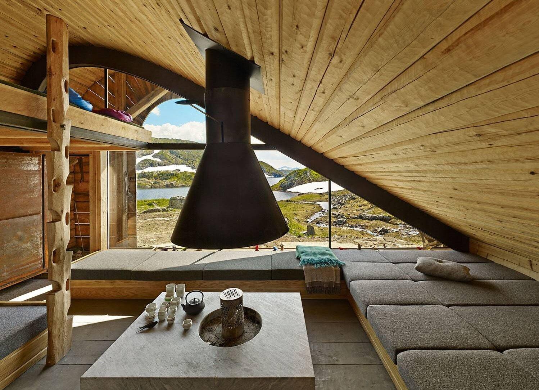 Tiny Lakeside Lodge - Snøhetta - Norway - Interior - Humble Homes