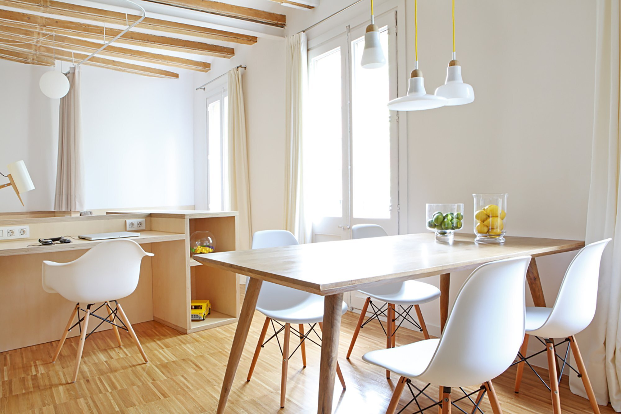 Apartment Pujades11 - Small Apartment - Miel Arquitectos + Studio P10 - Spain - Dining Room and Study - Humble Homes