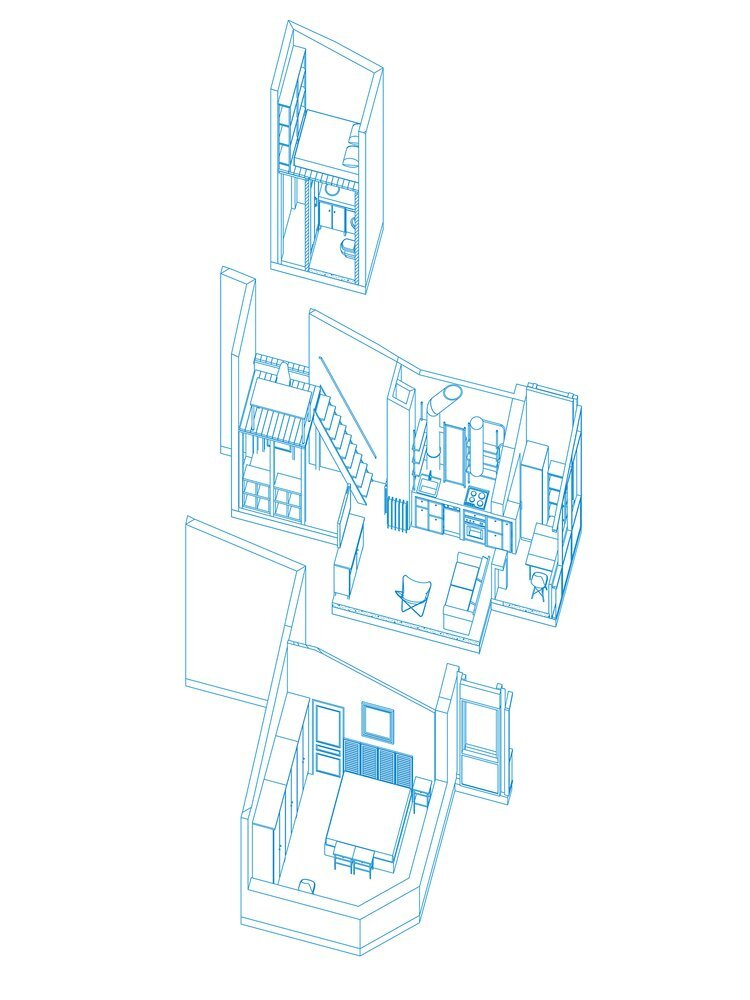 Attic for an Architect - buro5 - Moscow - Plan - Humble Homes