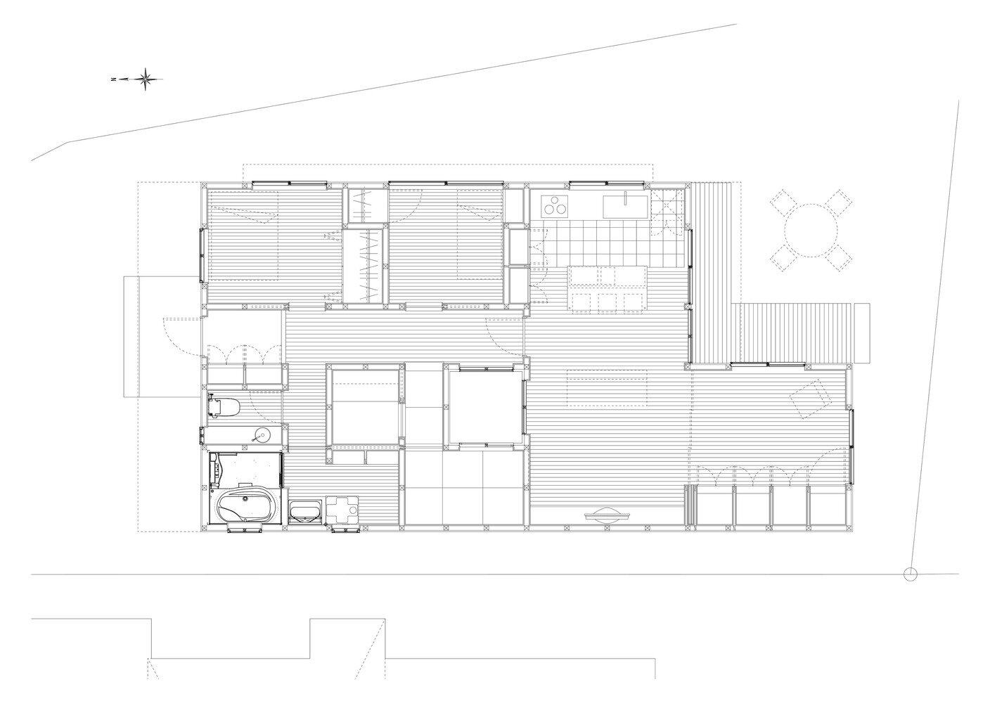 House in Yoshinaga - Tomoyuki Uchida - Japan - Floor Plan - Humble Homes