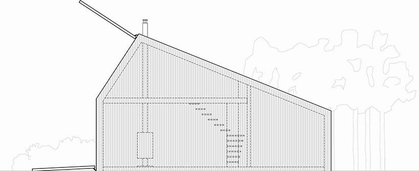 Kite House - D44 Architects - Small House - Brussels - Cross Section - Humble Homes