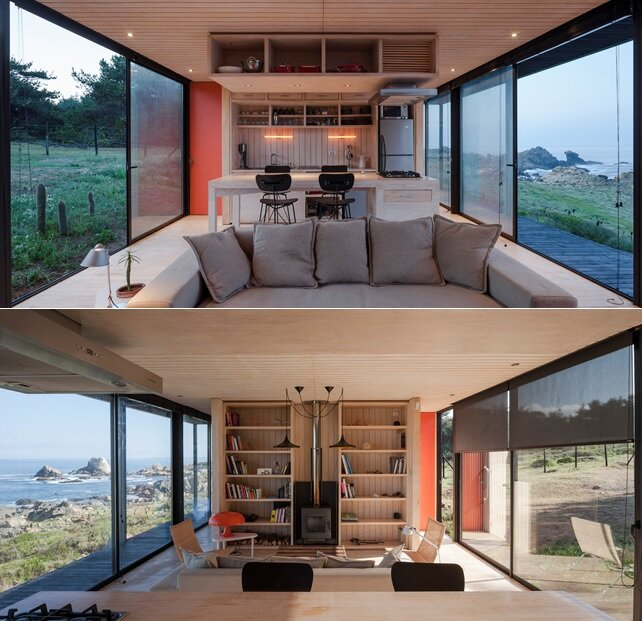 Remote House - Modular House - Felipe Assadi - Chile - Living Area - Humble Homes