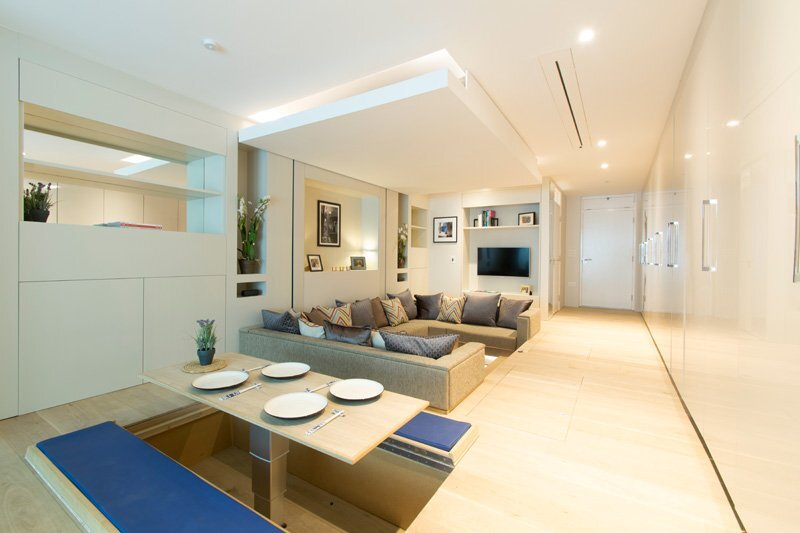 Small Apartment - Yo Home - Simon Woodroffe - Dining and Living Area - Humble Homes